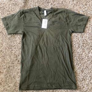 AMERICAN APPAREL V Neck Jersey T-Shirt